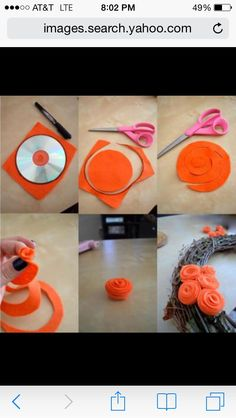 How to make felt flowers Felt Roses, Felt Flowers, Baby Accessories, Wedding Flowers, Sewing Projects, Crochet Necklace, Arts And Crafts, How To Make, Handmade