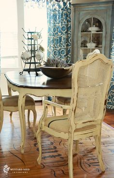 Just bought myself some cane back chairs to hopefully paint and turn out like this!