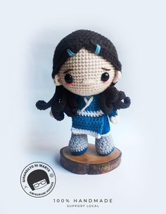 This Doll is inspired from the Avatar The Last Air Bender tv series. Made from milk cotton yarn and is handmade from my own pattern. Pattern will be available soon in my etsy shop Crochet Doll Pattern, Crochet Dolls, Crochet Patterns, Amigurumi Doll, Amigurumi Patterns, Crochet Monsters, Crochet Dragon, Air Bender, Homemade Toys