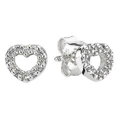 PANDORA 'Be My Valentine' Stud Earrings ($45) ❤ liked on Polyvore featuring jewelry, earrings, stud earrings, stud earring set, sparkle jewelry, post earrings and sparkly earrings