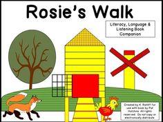 Rosie's Walk : A Literacy, Language and Listening Book Companion English Activities, Book Activities, Preschool Literacy, Kindergarten, Rosies Walk, Positional Language, Emergent Readers, Childrens Books, Books To Read