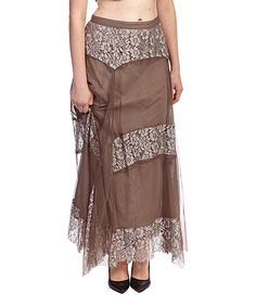 This Ash & Silver Floral Stripe Skirt - Plus by Nataya is perfect! #zulilyfinds