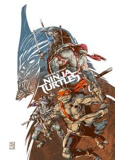 A illustration for Teenage Mutant Ninja Turtles - Legend of the Yokai project. Ninja Turtles 2014, Ninja Turtles Shredder, Teenage Mutant Ninja Turtles, Tmnt, Turtles Forever, Cartoon Turtle, Virtual Art, Alternative Movie Posters, Leonardo