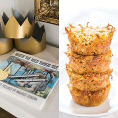 Book themed baby shower brunch menu: where the wild things are, cheesy potato / hash brown 'crowns'