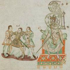 The Golden Psalter of St. Gallen, Stiftsbibliothek, Cod. Sang. 22 depicting 9th Century Carolingian Soldiers