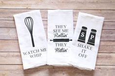 Funny Song Lyric Tea Towels Kitchen Towels Song by A2DCreations