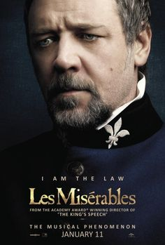 Russell Crowe is the latest Les Misérables cast member to get his own character poster. The Gladiator
