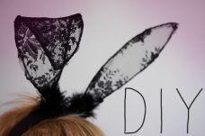 diy lace bunny ears