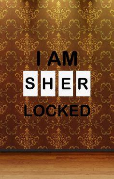 I am sherlocked - phone wallpaper Sherlock, Nerdy, Create, Phone, Wallpaper, Home Decor, Telephone, Decoration Home, Room Decor