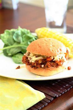 Summer Squash Veggie Sloppy Joe - Vegan