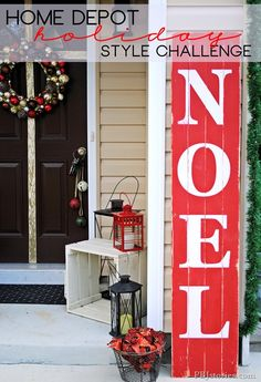 Outdoor Christmas Decoration Ideas - Painted Christmas Sign on Recycled Wood - Click Pic for 20 Front Porch Christmas Decorating Ideas instead of noel, use joy Christmas Time Is Here, Christmas Porch, Noel Christmas, Outdoor Christmas Decorations, Christmas Signs, Christmas Projects, Winter Christmas, Magical Christmas, Christmas Ideas