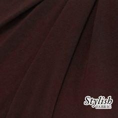 Brun chocolat ITY Stretch en tricot tissu tricot tissu par la Cour ITY Stretch Jersey tissu - 1 Yard Style 450