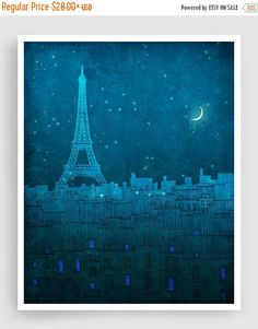 30% OFF SALE: The Eiffel tower in PARIS Paris by tubidu on Etsy