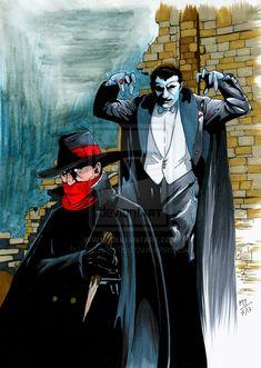 The Shadow vs. Dracula by Mike  Krayola Kidd  Torrance Comic Art