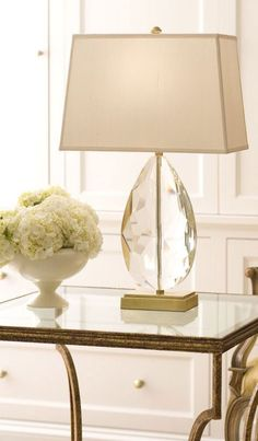 gorgeous solid crystal lamp; decorating ideas; #crystallamps