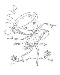 Primrose Design | Vintage | Embroidery Pattern | Dancing Tableware