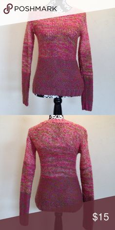Small Multicolored Knit Sweater Very good condition missing tag by neck Forever 21 Sweaters