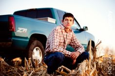 """""""a pic for my hubby to take solo. but with a little mud on the truck :)"""" orrrr me with mud on mine :) Truck Senior Pictures, Country Senior Pictures, Male Senior Pictures, Boy Pictures, Senior Photos, Senior Portraits, Fall Portraits, Graduation Portraits, Graduation Pictures"""