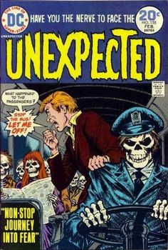Cover scan of Unexpected horror comic book from DC Comics. Dc Comic Books, Vintage Comic Books, Vintage Comics, Comic Book Covers, Vintage Magazines, Archie Comics, Ec Comics, Scary Comics, Horror Comics