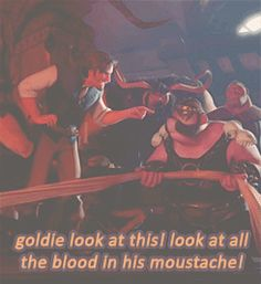 """Good sir that is a lot of blood!"""