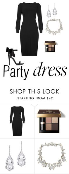 """Party in silver and black."" by katniss4117-1 on Polyvore featuring Bobbi Brown Cosmetics, Plukka, Tiffany & Co. and Miss Selfridge"
