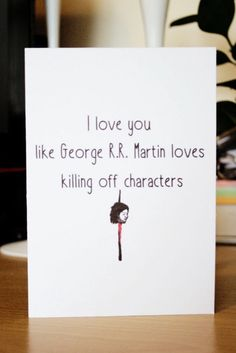Items Similar To Funny Game Of Thrones Card Blank Inside Note