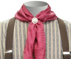 "Style and function combine in our silk polka dot ""wild rag"" scarves. Silk is versatile and beautiful, warmer than wool, and more comfortable than cotton. Historical Emporium, Cowboy Action Shooting, Vintage Cowgirl, Cowboys And Indians, Period Outfit, Western Movies, Neckerchiefs, Red Silk, Wild West"