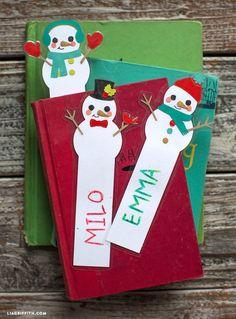 Kid's Snowman Bookmarks