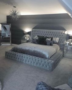 dream rooms for couples \ dream rooms . dream rooms for adults . dream rooms for women . dream rooms for couples . dream rooms for girls teenagers . dream rooms for adults bedrooms Stylish Bedroom, Modern Bedroom, Bedroom Black, Contemporary Bedroom, Bedroom Simple, Black Carpet Bedroom, Bedroom Inspo Grey, Black Bedrooms, Bedroom Brown