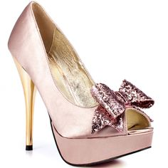 light pink and black heels | Kissy Kiss - Light Pink Satin, Luichiny, 94.99, FREE 2nd Day Shipping!