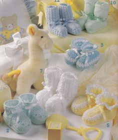 Baby Booties to Knit & Crochet 12 Patterns