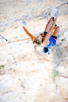 Would love to try rock climbing someday! (professional rock climber Sasha Digiulian.)
