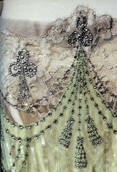 Detail from a dress belonging to Empress Alexandra, of Nadezhda Lamanova's workshop.