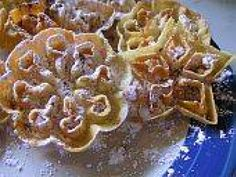 You don't need a Swedish grandmother to enjoy crispy, delicate rosette cookies. All you need is a rosette iron and patience.: Sugar and Spice Make Rosettes Nice Rosette Cookies, Rosettes Cookie Recipe, Rosette Recipe, Cookie Recipes, Dessert Recipes, Desserts, Norwegian Food, Norwegian Recipes, Scandinavian Food