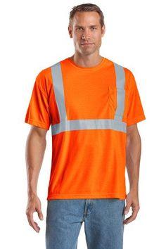 CornerStone CS401 Hi Vis ANSI Class 2 Safety Orange T-Shirt