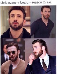 Reason to live=Chris Evans<<<just described my life purpose Chris Evans Beard, Robert Evans, Capitan America Chris Evans, Chris Evans Captain America, Capt America, Christopher Evans, Man Thing Marvel, Steve Rogers, Gorgeous Men