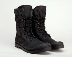 Palladium x Maharishi Tactical Boot. Palladium has teamed up with British fashion label Maharishi on a pair of Maharishi Tactical Boots.
