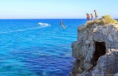 Cyprus cliff diving