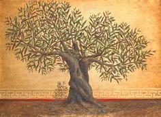 15 Trendy Olive Tree Landscape Oil On Canvas Oak Tree Silhouette, Tree Silhouette Tattoo, Olive Tree Tattoos, Tree Roots Tattoo, Tree Tattoo Designs, Tattoo Ideas, Piercings, Tree Sketches, Landscape Tattoo