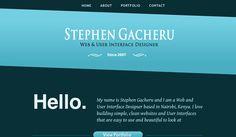 Stephen Gacheru | Portfolio Website | www.stephengacheru.me