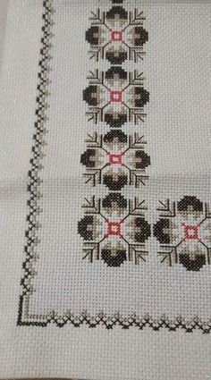 This Pin was discovered by Nil Cross Stitch Borders, Cross Stitch Designs, Cross Stitching, Cross Stitch Patterns, Beaded Embroidery, Cross Stitch Embroidery, Embroidery Patterns, Hand Embroidery, Palestinian Embroidery