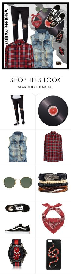 """""""Coachella Outfit ideas"""" by style-aisle ❤ liked on Polyvore featuring Topman, Joseph Joseph, Dsquared2, Ray-Ban, Vans, Yves Saint Laurent, Gucci, men's fashion, menswear and coachella"""