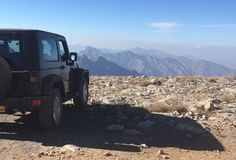 Jeep up on top of Jebel Akhdar, Oman