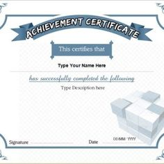 Achievement  Present An Achievement Certificate To A Person In