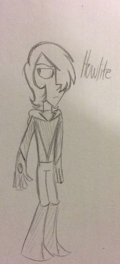 Rough design for yet another OC, Howlite (I have too many characters take them away)