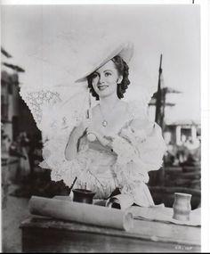 "Olivia de Havilland as Arabella Bishop in ""Captain Blood"".Olivia de havilland birthday countdown days to go! Golden Age Of Hollywood, Classic Hollywood, Old Hollywood, Olivia Havilland, Captain Blood, Birthday Countdown, 22 Days, Errol Flynn, Turner Classic Movies"