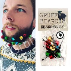 aabd6c3bf2b Stocking fillers for him. Secret Santa gift for men. Stocking stuffer  ideas. Novelty Jingle Beard Bells. Stag do