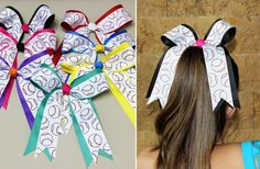 These Baseball / Softball Hair Bows are made with high quality ribbon. Each piece of ribbon has been heat sealed to prevent fraying and is attached to a partially alligator clip. These bows can be worn by all ages. They are perfect for girls to wear to support their favorite baseball team. They can be worn clipped in their hair or along side of a pony tail.