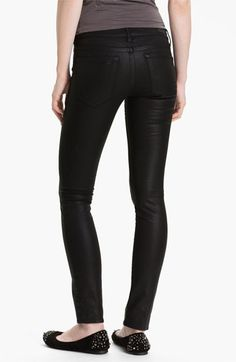 Nordstrom  Articles of Society 'Mya' Coated Skinny Jeans (Moto) (Juniors) $80  ...I want some coated jeans.