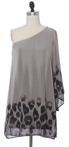 Grey Animal Print Dress